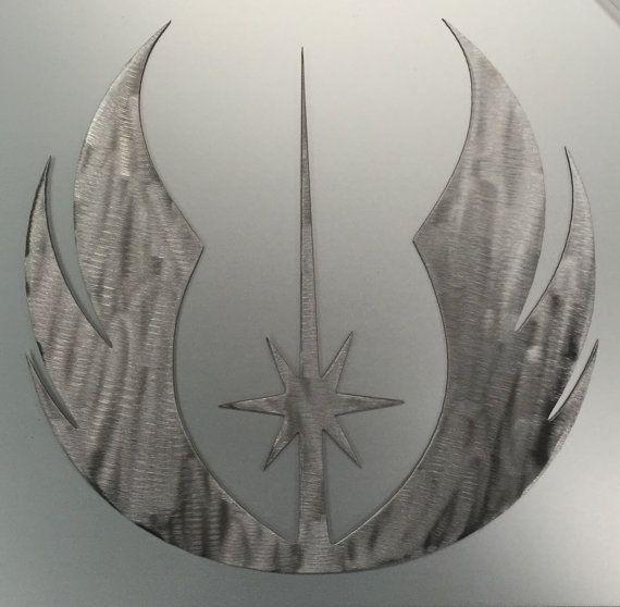 Metal Jedi Symbol Star Wars Wall Art Decor Decoration Gifts For Him Theatre Room Star Wars Wall Art Jedi Symbol English Wheel