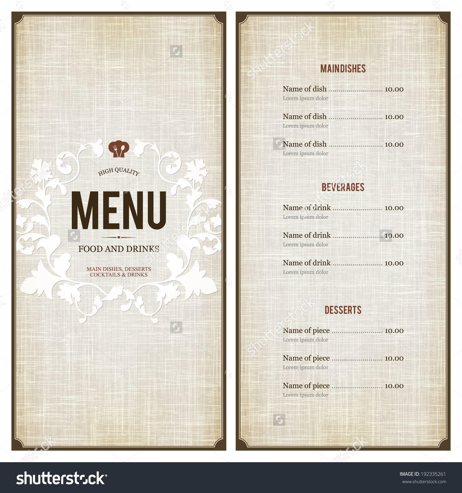 stockvectorrestaurantmenudesign192335261jpg 1 500 1 600 – Restaurant Menu