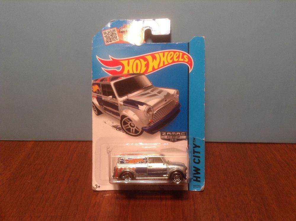 Hot Wheels '67 Austin Mini Van #27 HW Art Cars 2015 ZAMAC 1967 50 Cent Comb Ship…