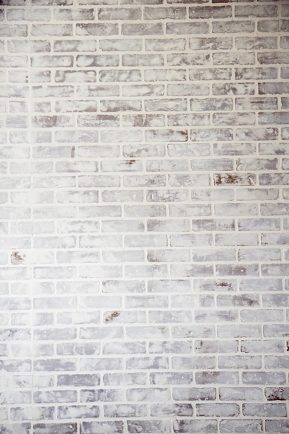 Diy Faux Brick Wall Easy Faux Brick Wall Using Brick Paneling