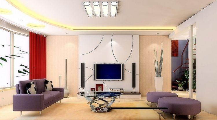 Schöne Einrichtungsideen für Wohnzimmer mit Fernseher | furniture ...
