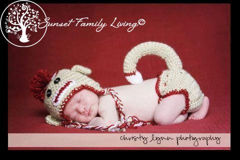 sock monkey hat and diaper cover | free crochet pattern | Crochet ...