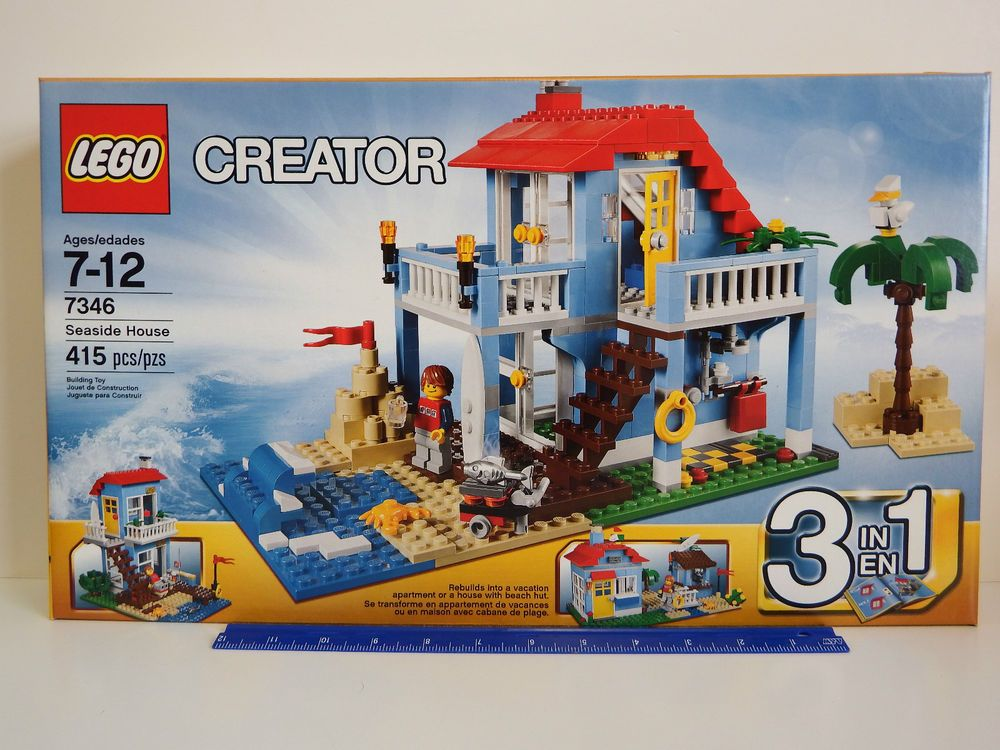 Lego Creator 7346 3 In 1 Seaside House 415 Piece Set Ages 7 12 Years Seaside House Lego Creator Lego Creator Sets