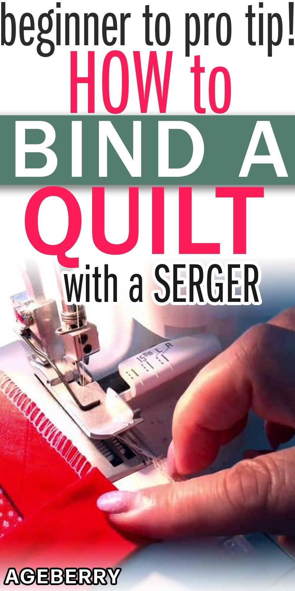 Making quilt binding with a serger - step-by-step tutorial #sewingtechniques