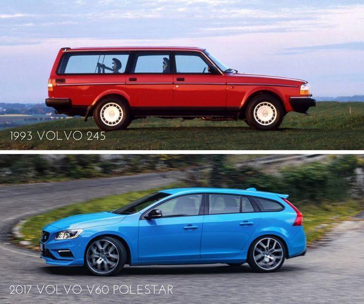 #TBT: 1993 Volvo 245 Vs. 2017 Volvo V60 Polestar