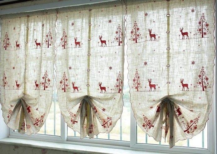 decorar cortinas en navidad cortinas para Navidad Pinterest