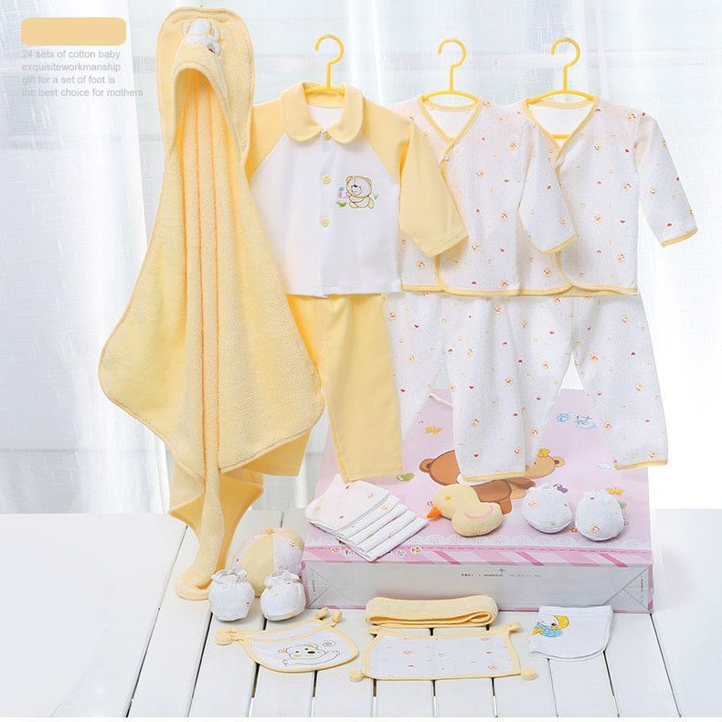 d4355e47675 Emotion Moms newborn baby girls clothes cotton 24pieces 0-6months infants  baby girl boys clothing set baby gift set without box