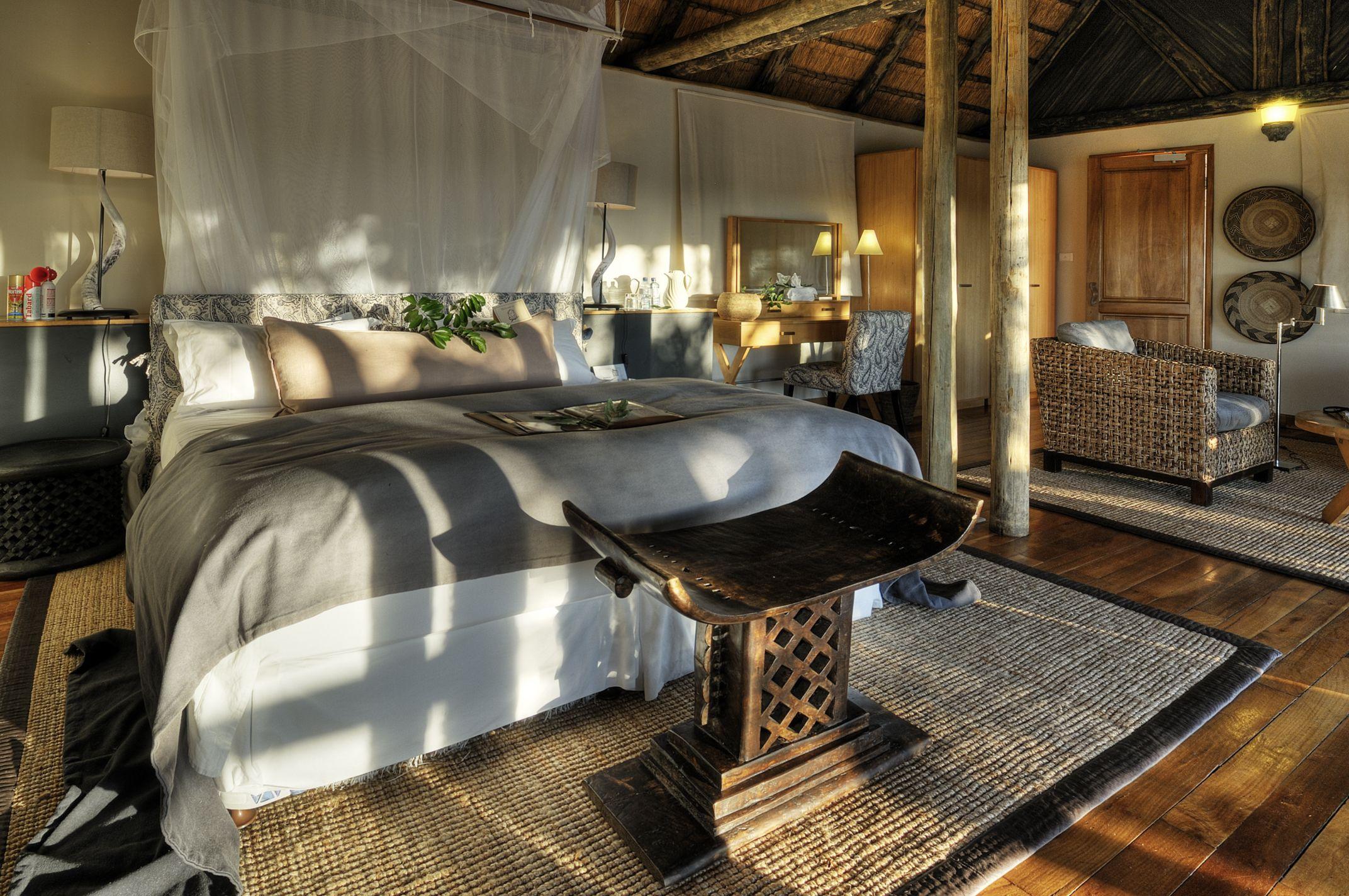Bedroom At The Savute Safari Lodge In Botswana African Bedroom Modern Bedroom Bedroom Design
