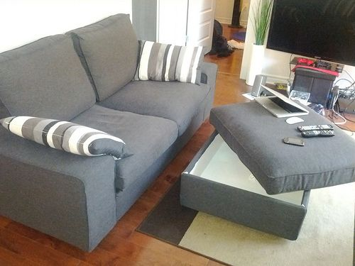 Quick Sale Ikea Sofa Couch Kivik Loveseat Ottoman Brand New