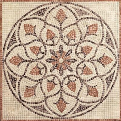 Awesome Tumbled Stone Medallion Decorative Floor And