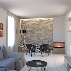 Photo of L'angolo stufa in soggiorno soggiorno moderno di 3d-arch moderno | homify