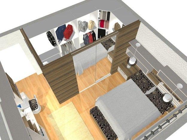 suite pequena com closet - Pesquisa Google  Projeto Casa  Pinterest  작은 집 및 ...