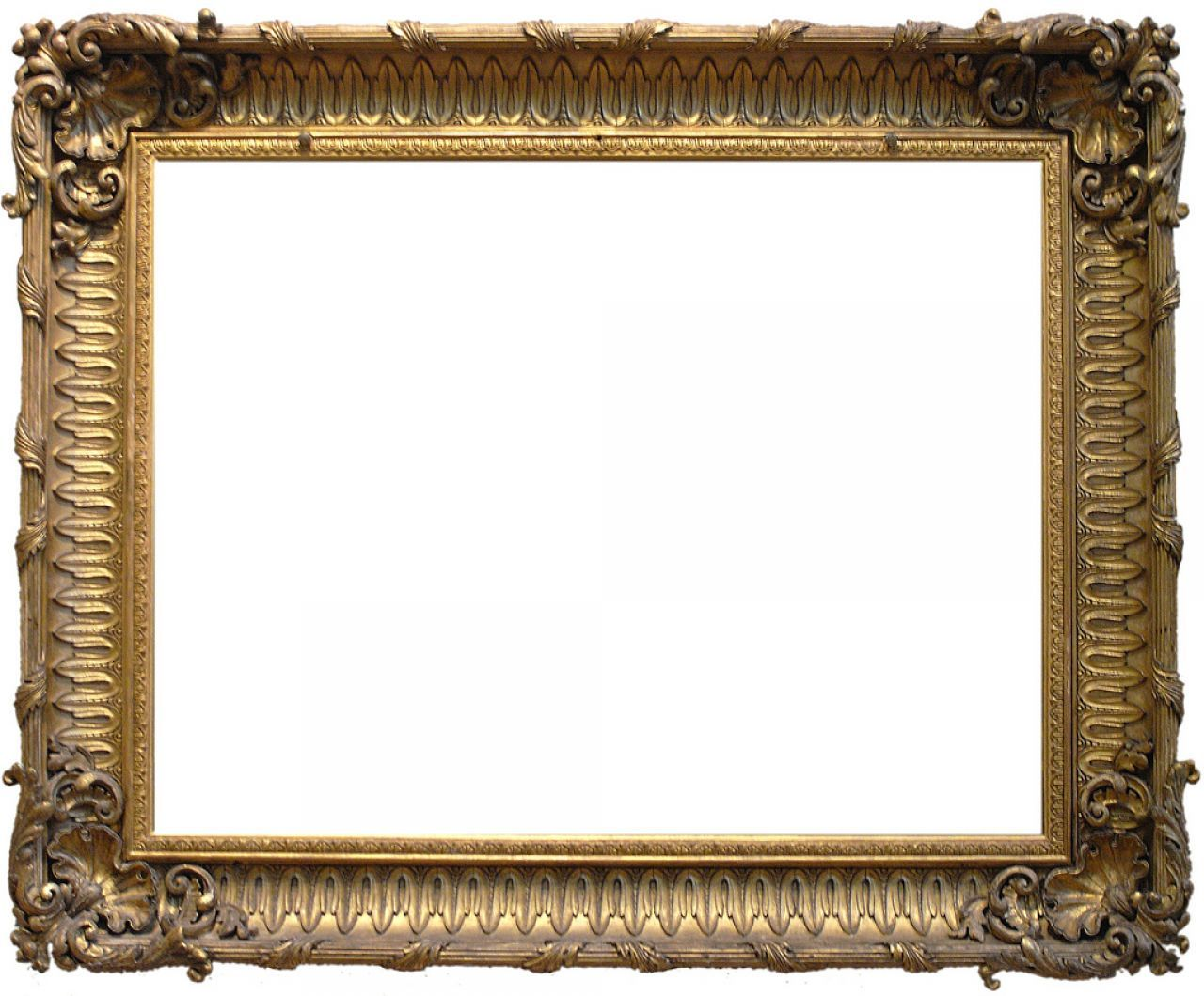 simple design for ornate gold frame border with