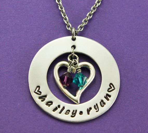 Check out this item in my Etsy shop https://www.etsy.com/listing/192717157/personalized-mommy-necklace-custom