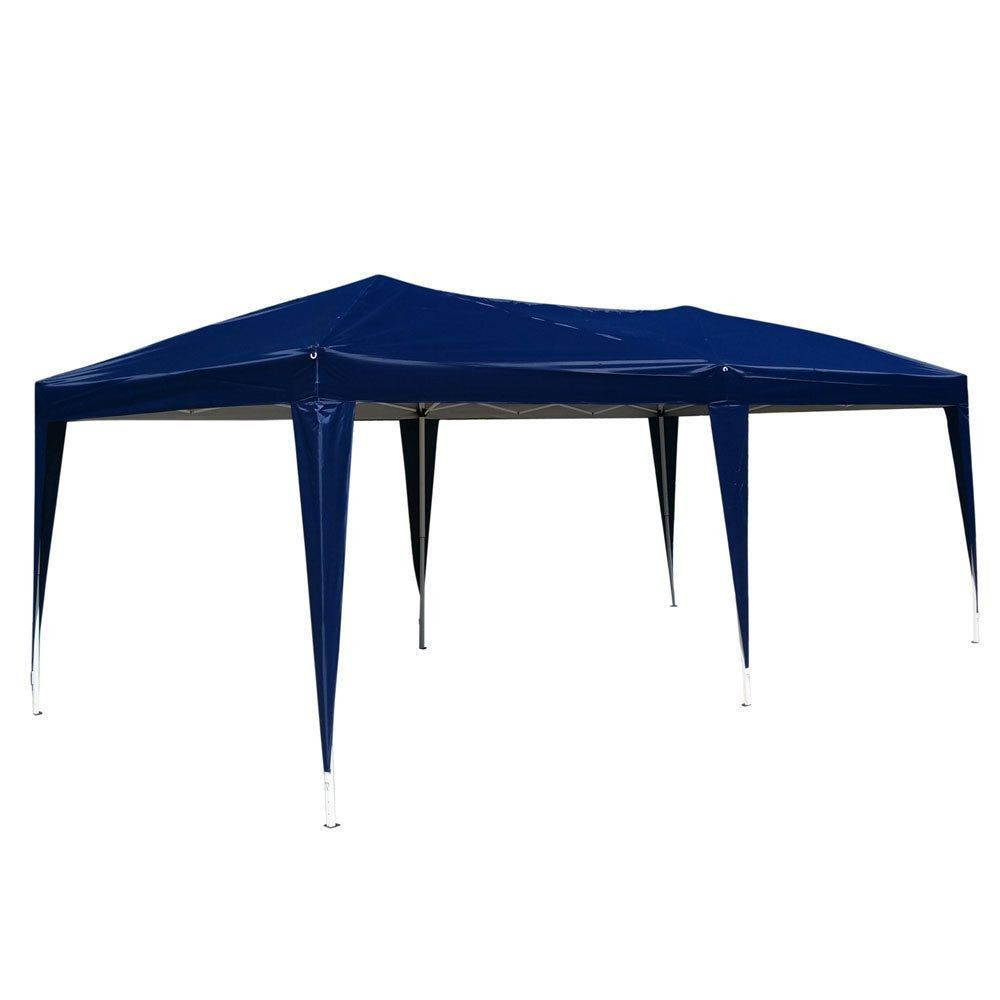 10x20 Ft Ez Pop Up Wedding Party Tent Folding Gazebo Canopy Heavy Duty Carry Case Camping Tent Blue 13026462 Tentcanopyce Gazebo Canopy Gazebo Blue Shed