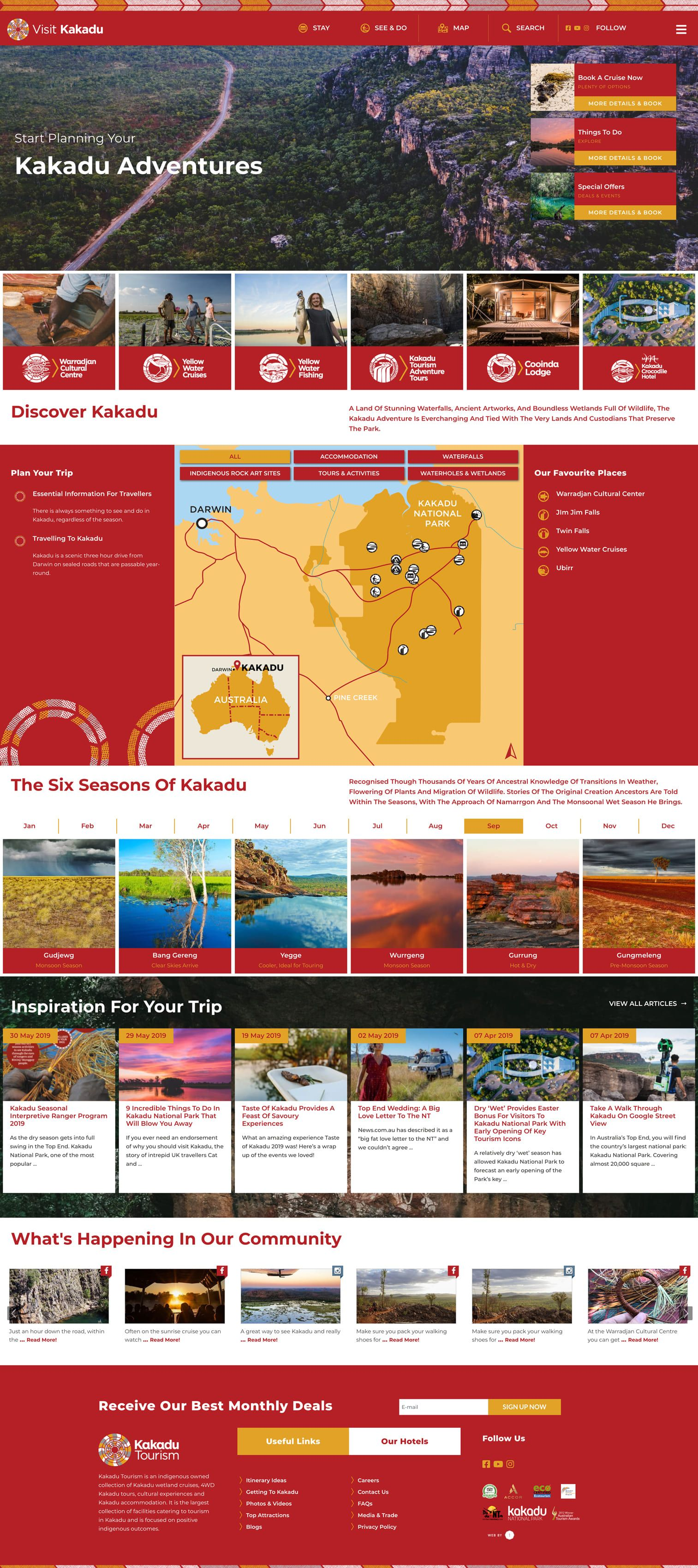 Website Design Development Tourism Website Kakadu Web Design Marketing Tourism Website Website Design