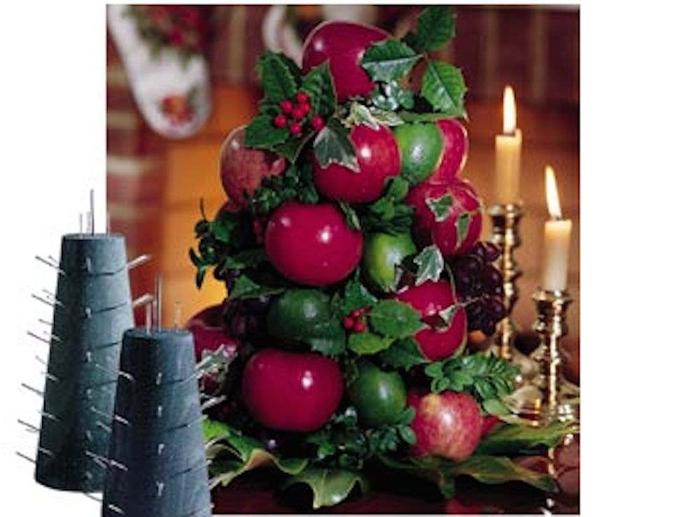 Apple Cone Colonial Williamsburg Tree Base For Fresh Fruit Table Centerpiece Thebluebirdcollecti Holiday Table Centerpieces Holiday Centerpieces Apple Wreath