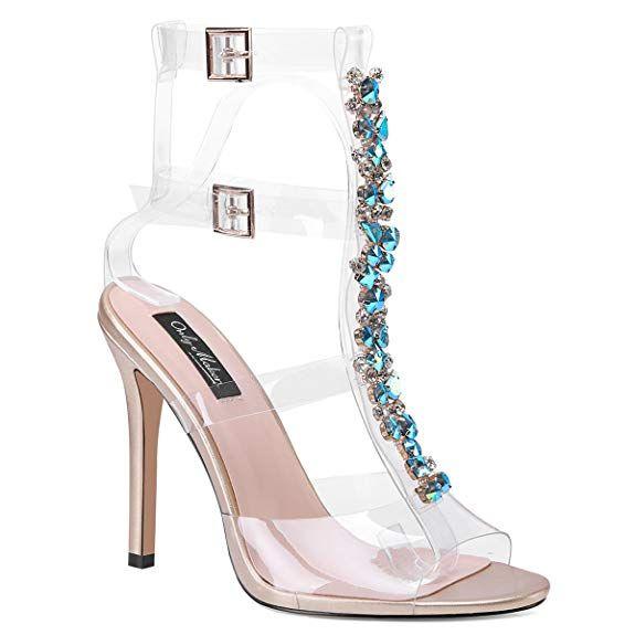Stylische High Heels mit breitem Absatz