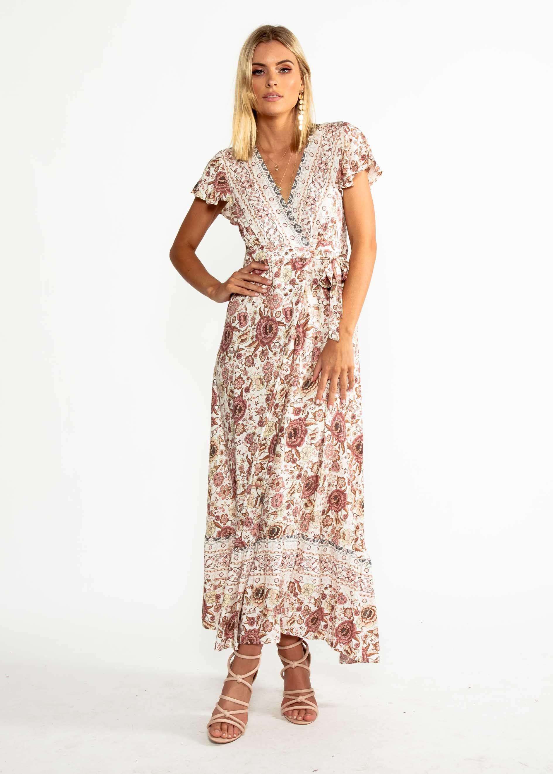 Mackenzie Wrap Maxi Dress Vintage Rose Gingham And Heels Vintage Maxi Dress Vintage Dresses Maxi Wrap Dress [ 2645 x 1889 Pixel ]