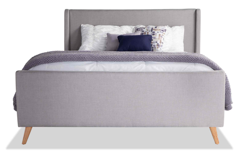 Copenhagen Queen Onyx Upholstered Bed In 2020 Grey Upholstered Bed Upholstered Beds Modern Upholstered Beds