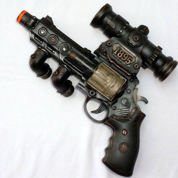 Steampunk cyber goth flintlock gun display stand Victorian pirate VAMPIRE ZOMBIE on Etsy, $39.99