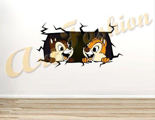 Stickers Cameretta Disney : Wall stickers sticker adesivo muro adesivi murali disney cip e ciop