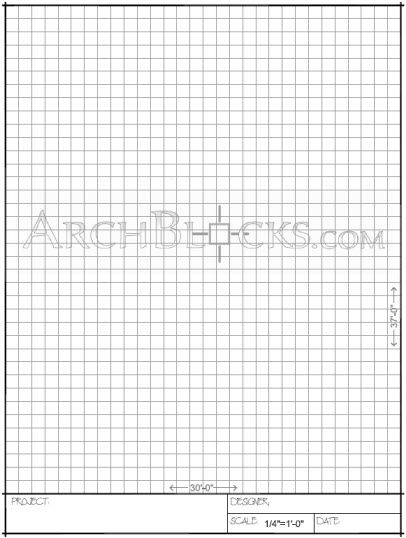 graph paper with title block