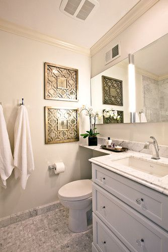 Extended Counter Karr Bick By Wendy Kuhn Traditional Bathroom St Louis By Karr Bi Small Bathroom Mirrors Traditional Bathroom Small Bathroom Makeover