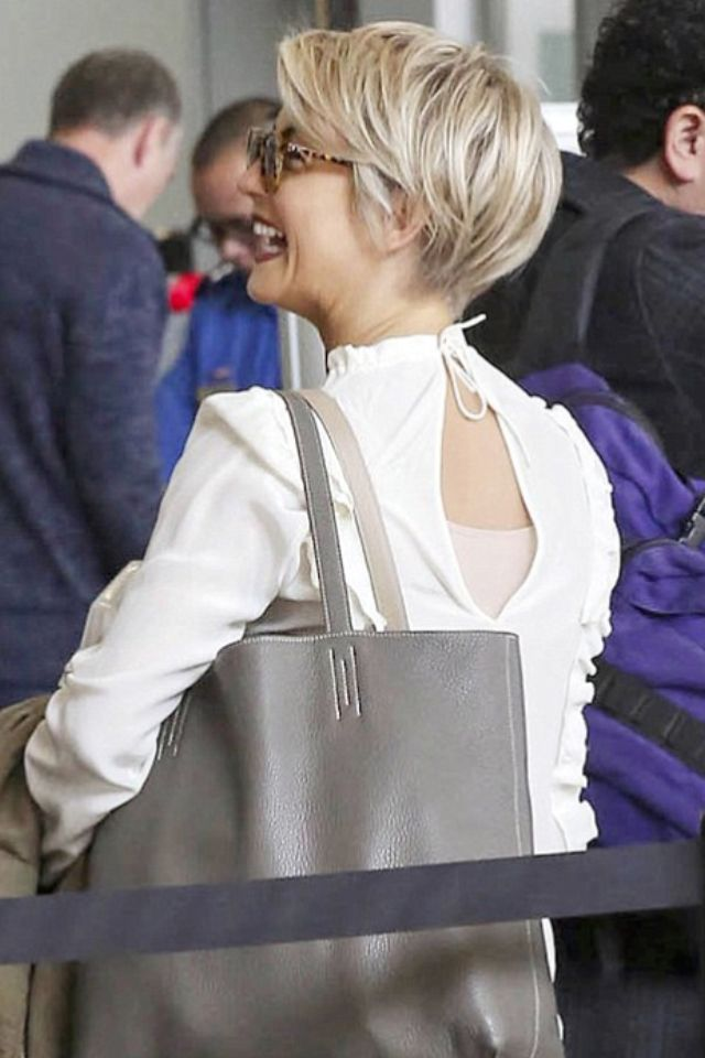 Julianne Hough Shows Off Her New Pixie Cut At Lax Appointment