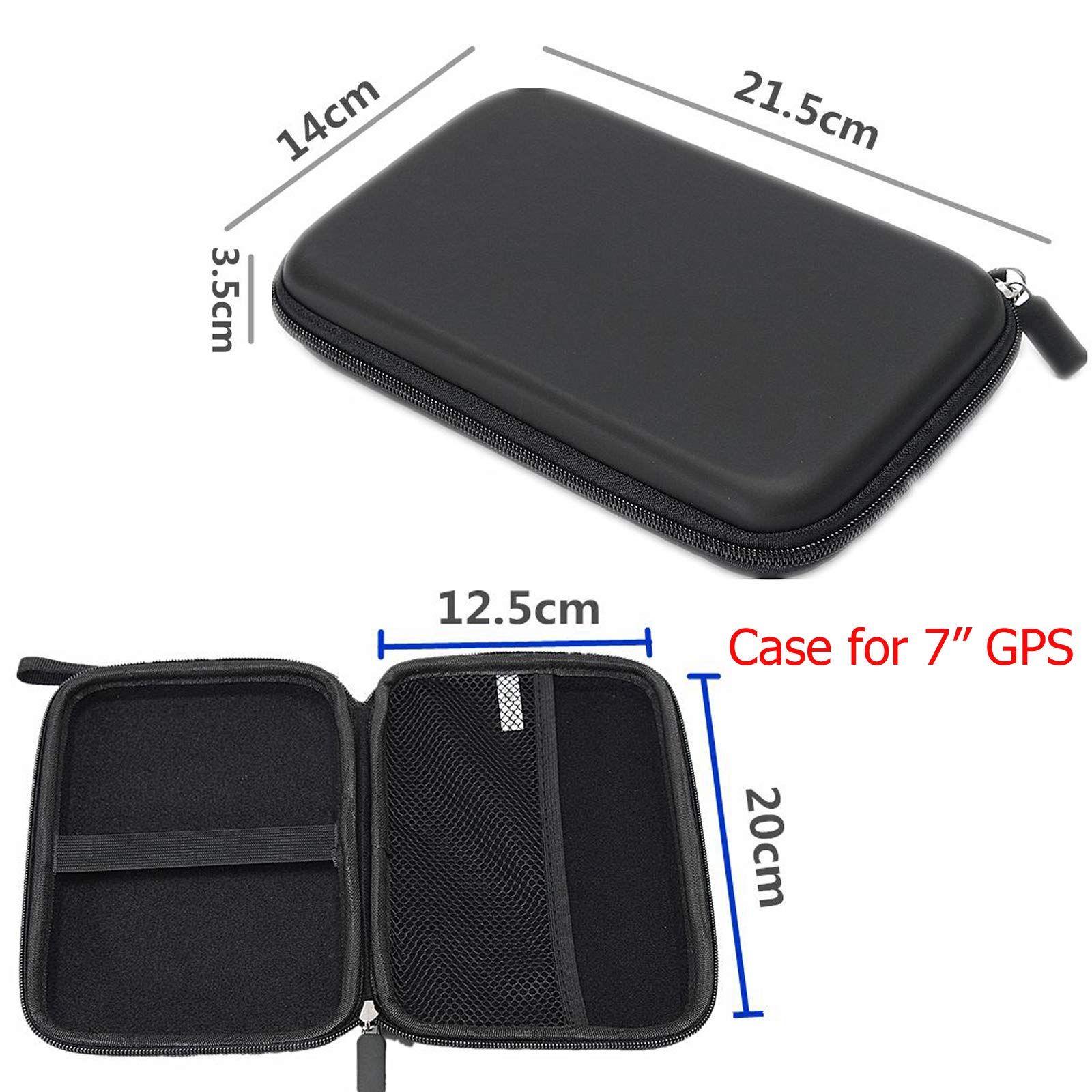 """Navigation Hard Carry Case Cover 7/"""" In Car Sat Nav Holder GPS Storage Travel Bag"""