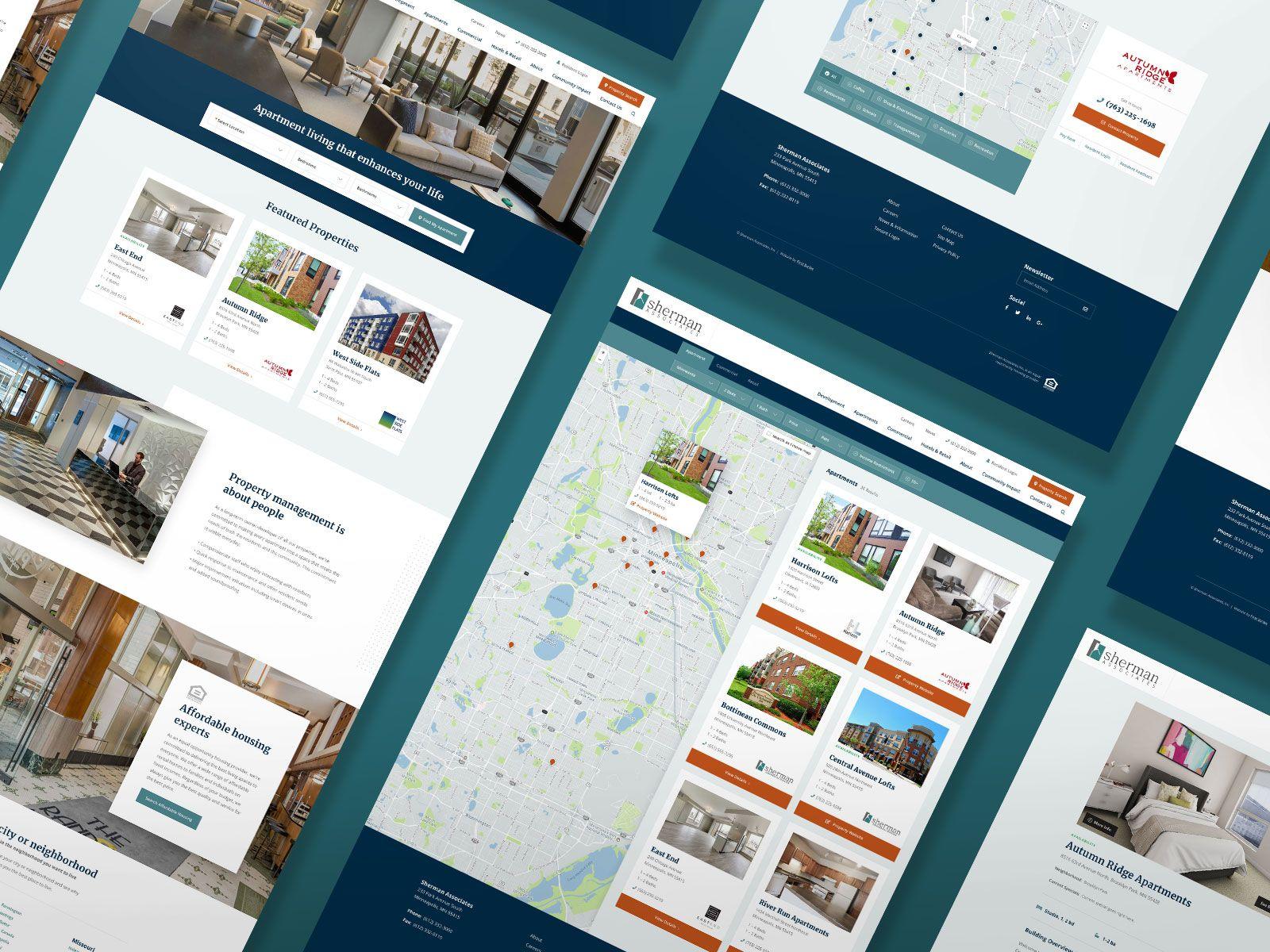 Sherman Property Development Firm Design Graphicdesign Digitalart Graphicdesigner Uxdesign Ux Webdesign Website Design Property Development Web Design