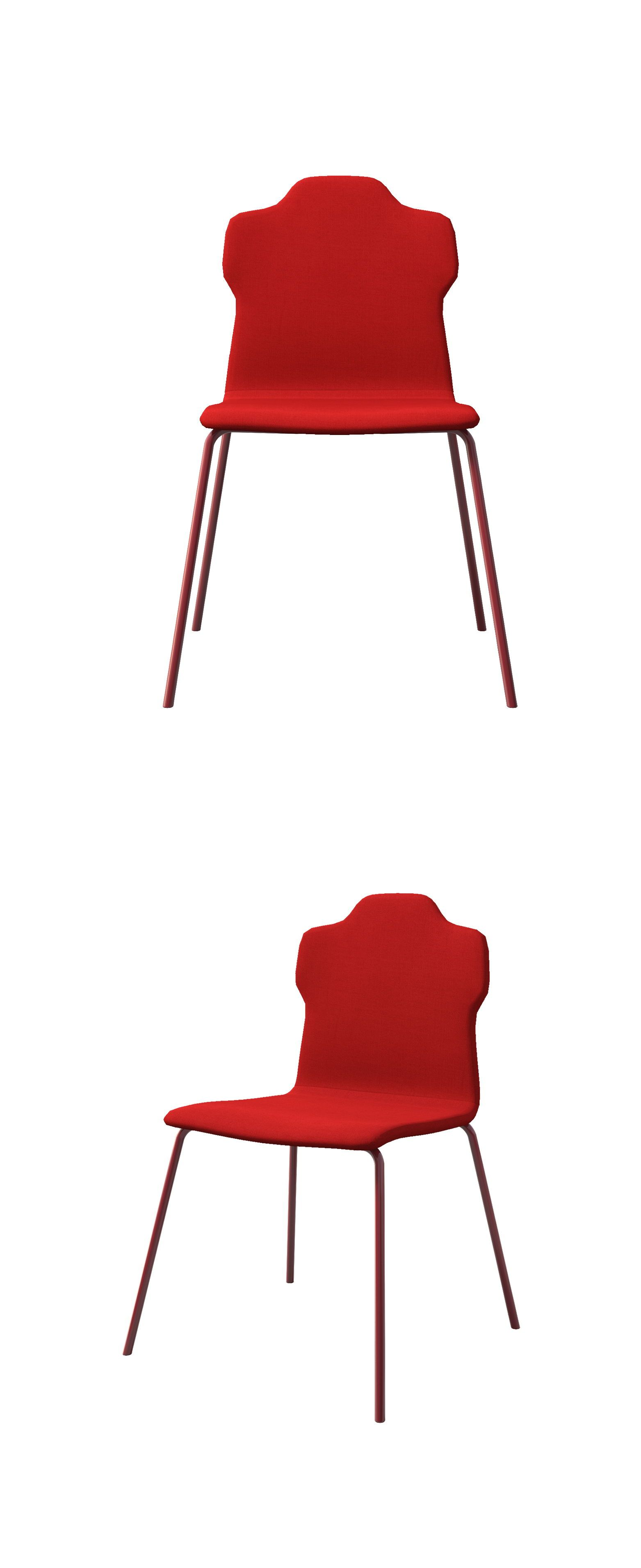 Modern Style Dining Chair Red Series Conventional Stainless