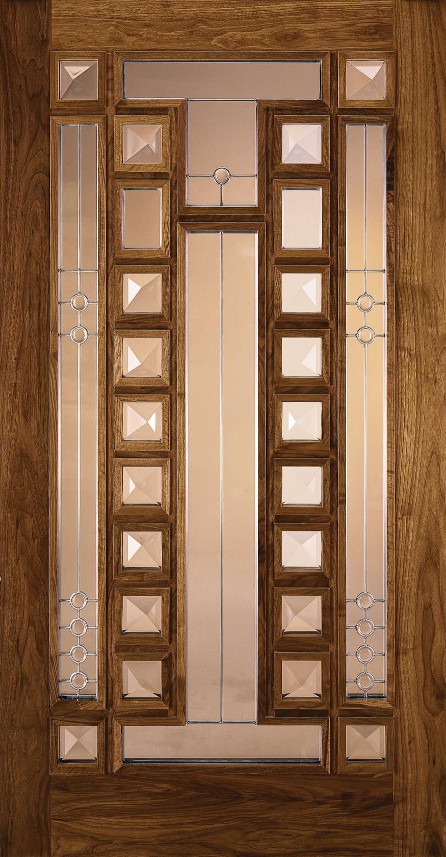 Custom Wood Glass Panel Exterior Door Jeld Wen Windows Doors