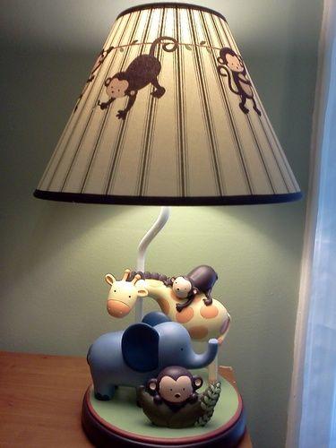 Jungle 123 Lamp Base And Shade Brown