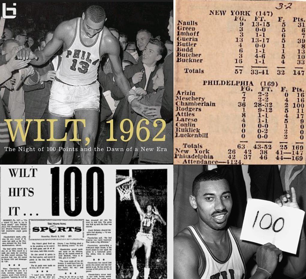 Wilt Chamberlain scored 100 points for the Philadelphia Warriors
