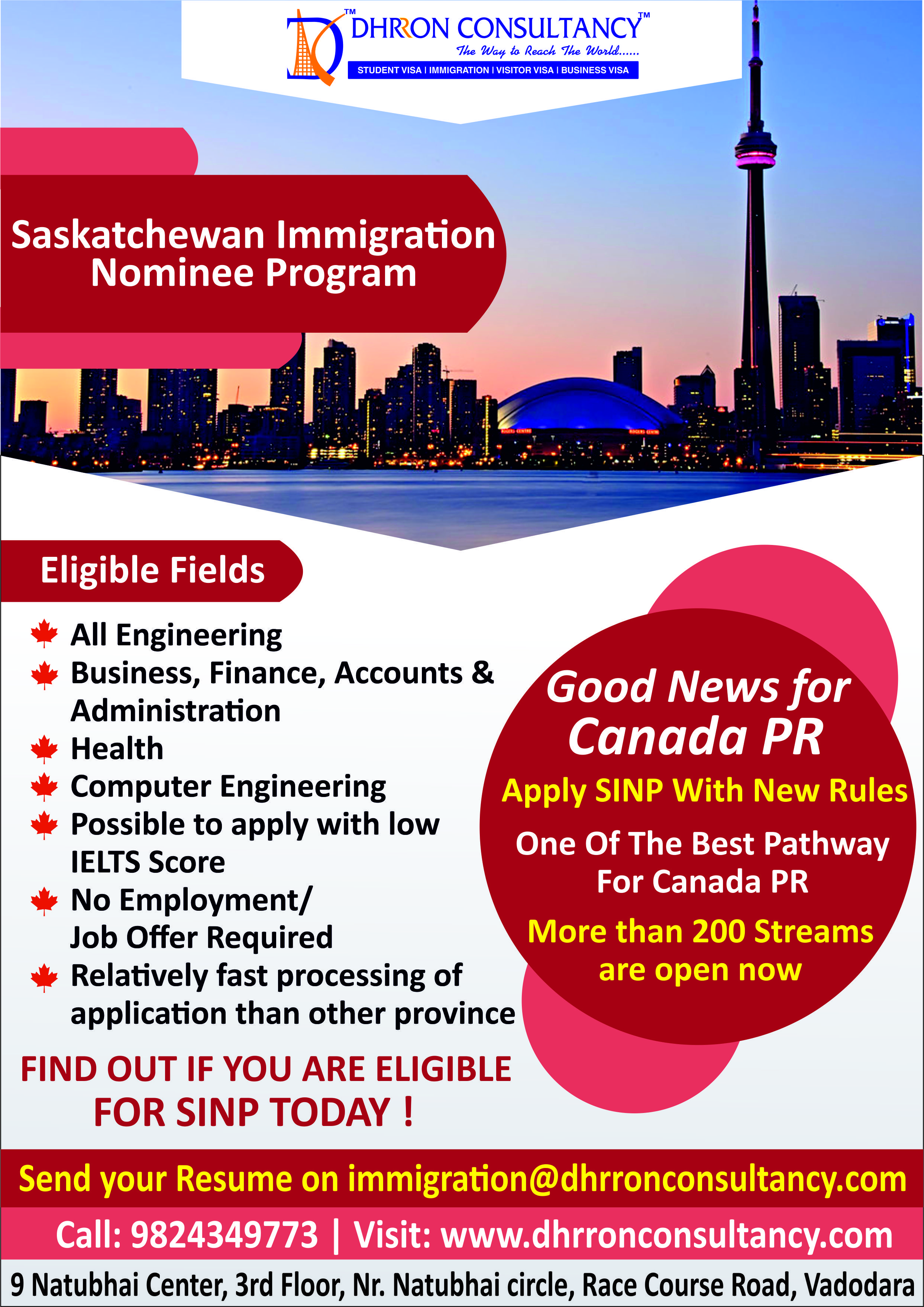Good News For Canadapr Apply Sinp With New Rules One Of The
