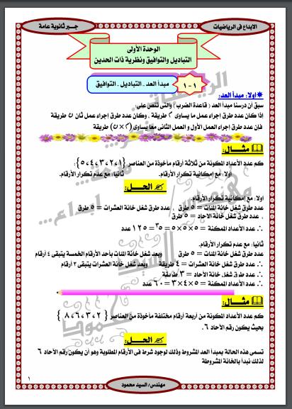 سلسلة الابداع مراجعة فى الجبر الرياضيات الجبر والهندسة الفراغية الصف الثالث الثانوى الترمين 2019 Bullet Journal Journal