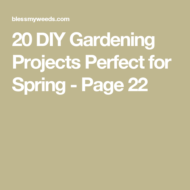 20 DIY Gardening Projects Perfect for Spring - Page 22