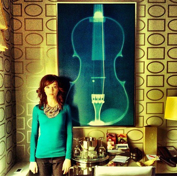 Lindsey in Chicago - her hotel knew she was coming!