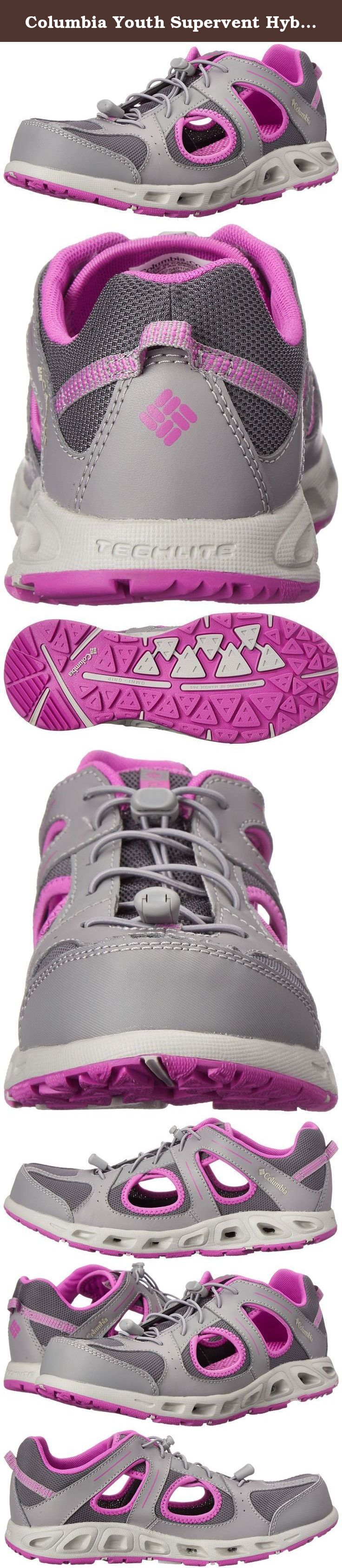 Columbia Youth Supervent Hybrid Water Shoe (Little Kid/Big Kid). Quick drying and ventilated hybrid land, boat and water shoe. Rugged closed toe mesh and synthetic water sandal.
