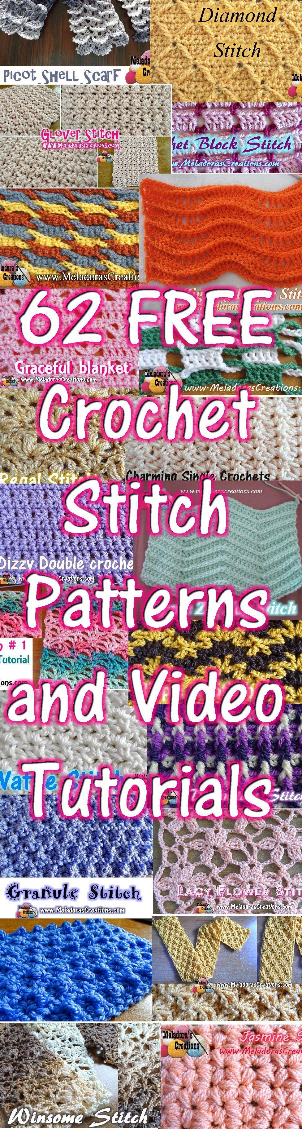 Crochet Stitch Patterns and Video | Tejidos | Pinterest | Häkeln ...