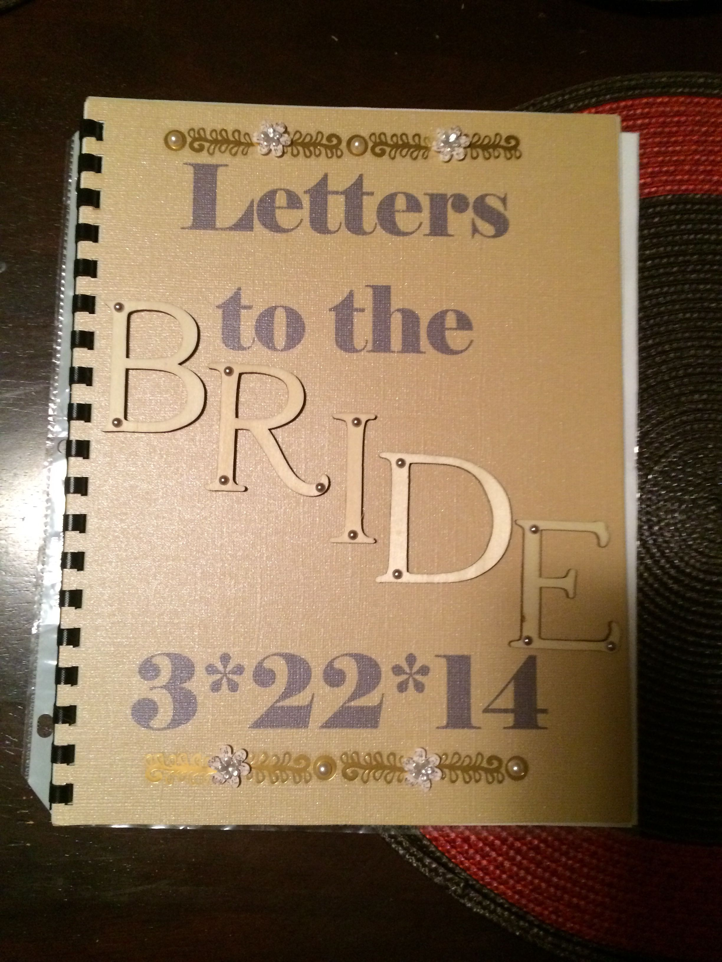 Letters To The Bride I Created This Book For My Sister I Bought