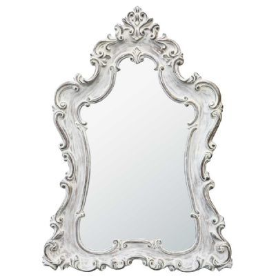Boudoir Provence Antique White Mirror