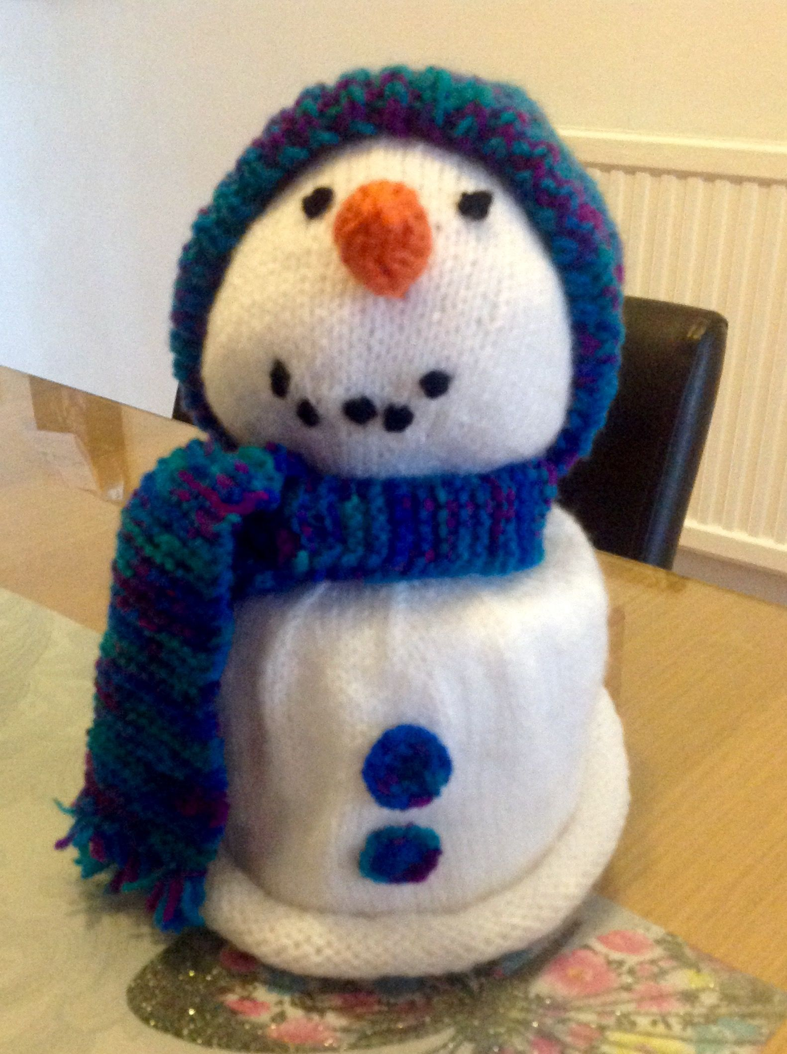 Snowman Toilet Roll Cover Knitting Pattern By Knitting By