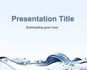 Free water waves powerpoint template with abstract background and free water waves powerpoint template with abstract background and clean design toneelgroepblik Image collections