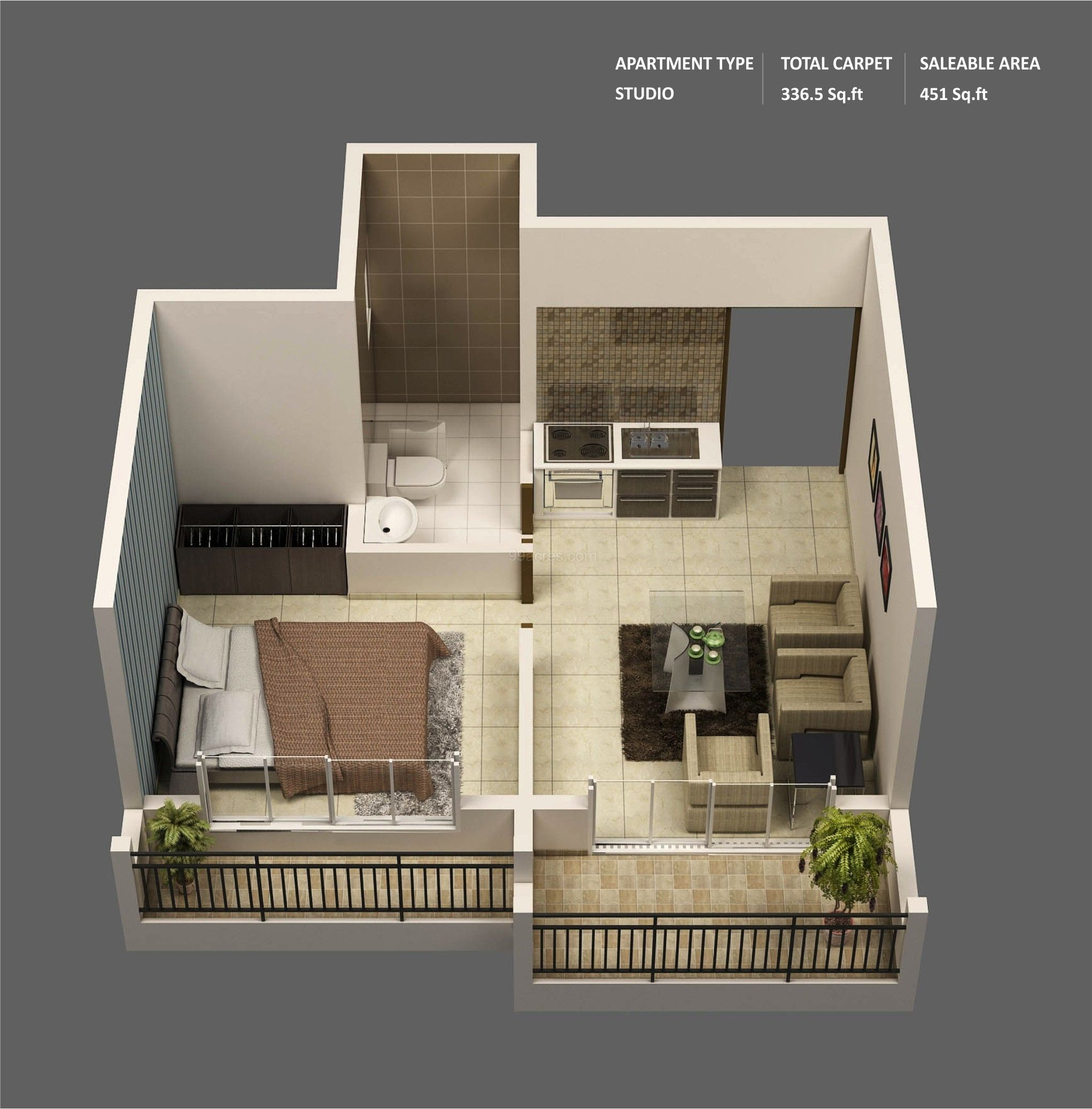 Superb 50 One U201c1u201d Bedroom Apartment/House Plans