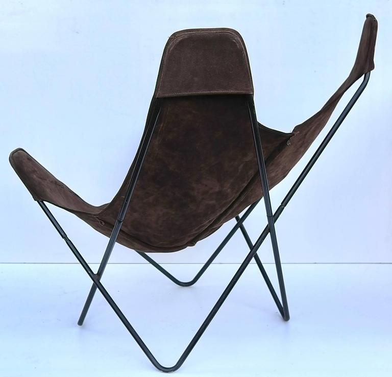 Knoll Butterfly Chair By Jorge Ferrari Hardoy In Suede Leather