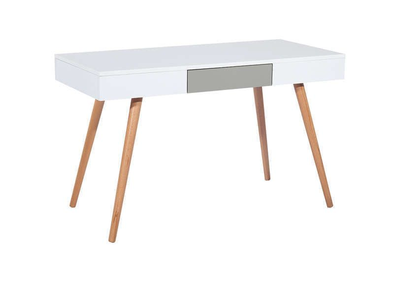 Bureau style scandinave à tiroirs imitation chÊne aquila les