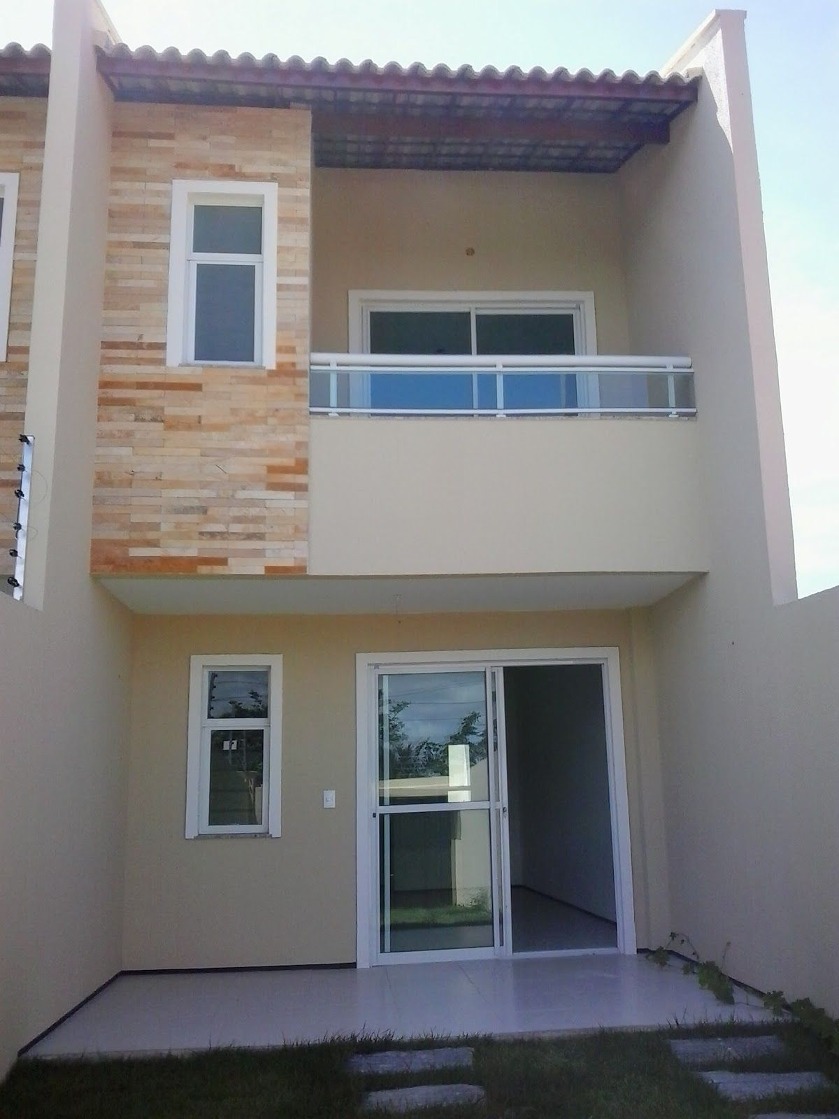 Resultado de imagem para fachadas de casas duplex pequenas for Modelo de casa pequena para construir