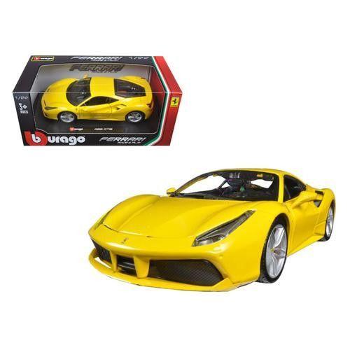 Ferrari 488 GTB Yellow 1/24 Diecast Model Car by Bburago